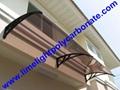 polycarbonate awning DIY awning door canopy window awning shelter rain shelter 9