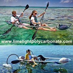 clear kayak transparent canoe crystal kayak ocean canoe touring kayak PC canoe (Hot Product - 1*)