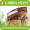 door awning kits DIY polycarbonate