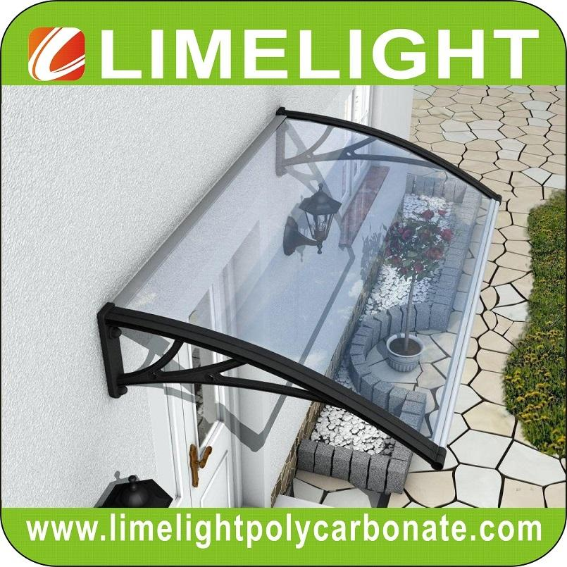 polycarbonate awning, door canopy, door awning, DIY awning, DIY canopy, PC awning, PC canopy, door roof canopy, rain shelter, rain shed, sunshade, front door canopy