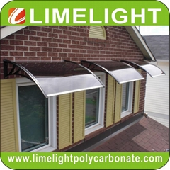 Canopy DIY awning door canopy PC window awning polycarbonate awning rain shelter