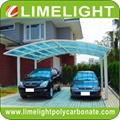 Double aluminium carport with white