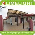 polycarbonate carport aluminium carport