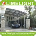 aluminium frame polycarbonate carport