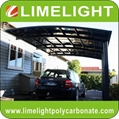 double size aluminum carport with bronze aluminium frame and grey PC solid sheet 3