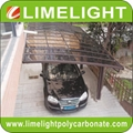 double size aluminum carport with bronze aluminium frame and grey PC solid sheet 6
