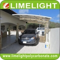 double size aluminum carport with bronze aluminium frame and grey PC solid sheet