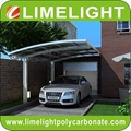 double size aluminum carport with bronze aluminium frame and grey PC solid sheet 13