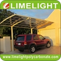 double size aluminum carport with bronze aluminium frame and grey PC solid sheet 17
