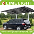 double size aluminum carport with bronze aluminium frame and grey PC solid sheet 18
