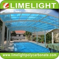 Aluminium alloy frame swimming pool cover with polycarbonate solid sheet 1