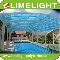 Aluminium alloy frame swimming pool cover with polycarbonate solid sheet