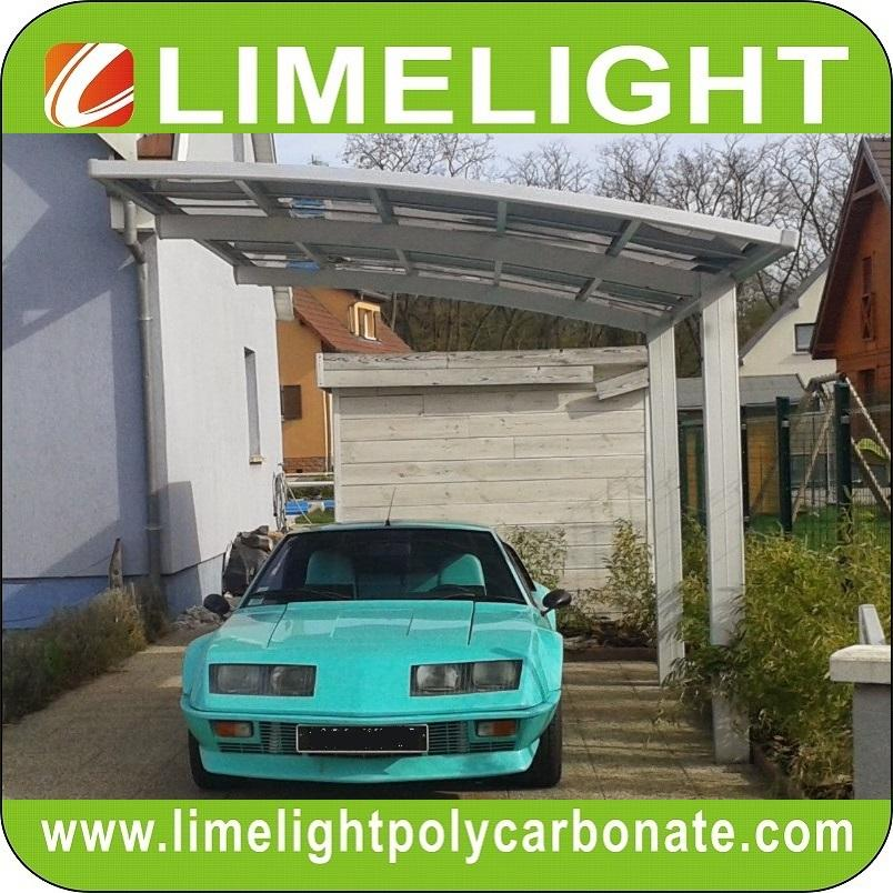 carport awning with powder coated aluminium alloy frame and polycarbonate sheet 1