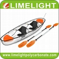 crystal kayak glass canoe polycarbonate transparent kayak canoe PC clear kayak