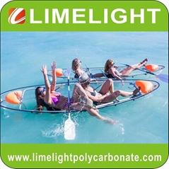 Clear kayak transparent canoe polycarbonate kayak crystal canoe sea thru kayak