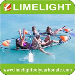 double seats clear kayak crystal canoe transparent kayak glass canoe ocean kayak