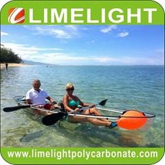 clear bottom kayak transparent canoe clear kayak crystal canoe PC kayak paddle