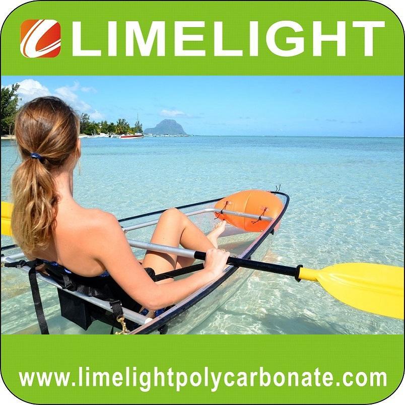 Transparent kayak clear canoe polycarbonate kayak crystal canoe see bottom kayak