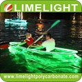 Clear kayak transparent PC kayak glass kayak with LED light for night touring