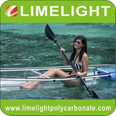 polycarbonate kayak clear canoe polycarbonate transparent kayak canoe PC kayak