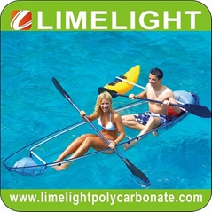 clear kayak polycarbonate canoe transparent kayak PC kayak crystal canoe clear