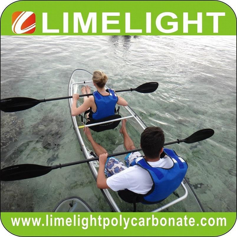 Clear bottom kayak polycarbonate canoe transparent kayak ocean PC clear kayak
