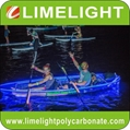 Transparent kayak clear crystal kayak glass kayak with LED light for night tour