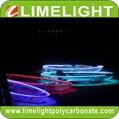 Transparent kayak clear crystal kayak glass kayak with LED light for night tour