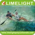 Glass kayak polycarbonate canoe
