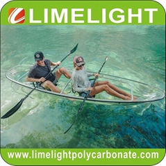 Glass kayak polycarbonate canoe transparent kayak PC clear kayak crystal canoe