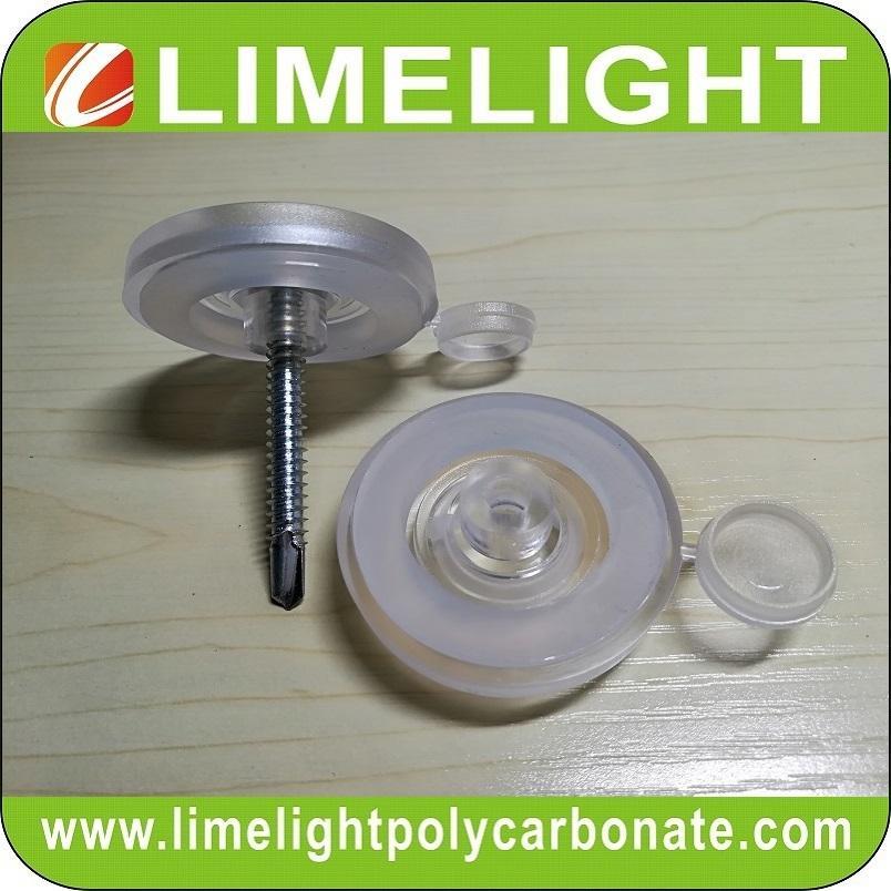 Polycarbonate screw cap screw button screw fixing button