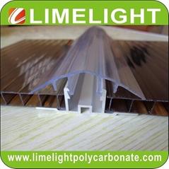 Polycarbonate cap & aluminium base profile H clip profile H profile H connector