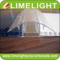 polycarbonate connector polycarbonate cap & base profile pc sheet accessories