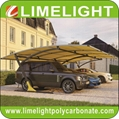 double size cantilever carport with metal frame and polycarbonate roof sheet 1