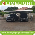 double size cantilever carport with metal frame and polycarbonate roof sheet