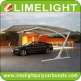 double size cantilever carport with metal frame and polycarbonate roof sheet 3