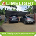 double size cantilever carport with metal frame and polycarbonate roof sheet 8