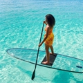 clear paddle board, clear SUP, transparent SUP, clear SUP board, transparent paddle board, transparent SUP board, see through paddle board, clear stand up board, transparent stand up board, clear stand up paddle board, transparent stand up paddle board