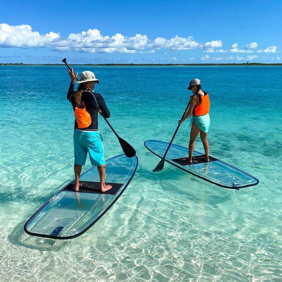 Transparent paddle board clear SUP paddle board crystal SUP clear paddle board