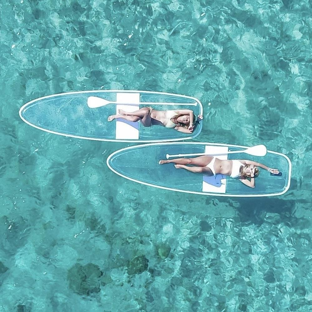 Clear paddle board transparent paddle board clear SUP board crystal paddle board 1