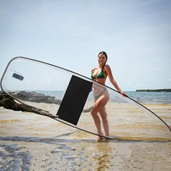 Clear SUP paddle board transparent paddle board clear SUP board transparent SUP