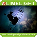 Clear SUP paddle board with LED light strip