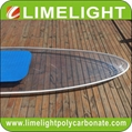 Clear SUP paddle board with LED light strip for night tour adventure