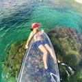 clear paddle board, transparent paddle board, clear SUP board, transparent SUP board, see through board, clear SUP, transparent SUP, see through SUP, glass SUP, clear board, transparent board, see through SUP board