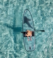 Crystal board clear paddle board clear