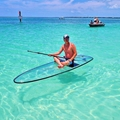 crystal board clear paddle board transparent paddle board clear SUP paddle board