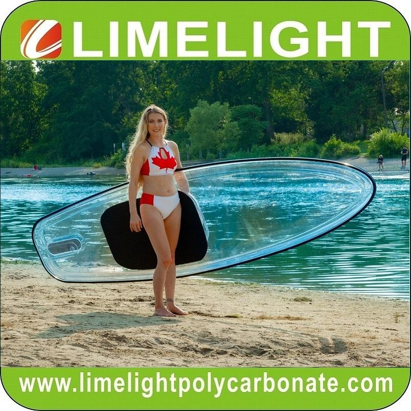 crystal transparent clear SUP Paddle Board Stand up paddleboard