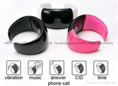 Smart LED Watch Bluetooth Vibrating Bracelet with Call Answering and Caller ID
