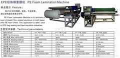PE Foam Lamination Machine
