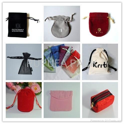 Various colors shapes of velvet pouches organza pouches cotton bags gift b 1